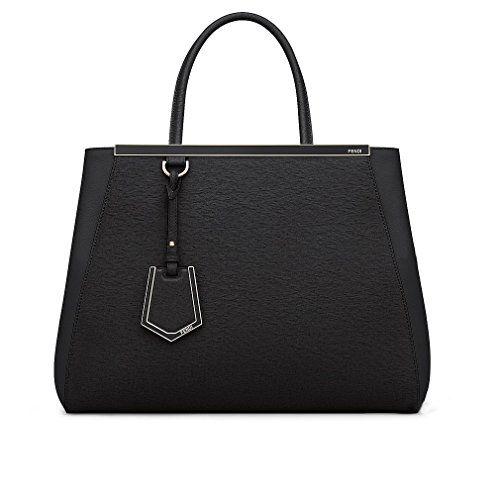 9bc6abd8 Fendi Women Handbag Regular 2Jours Black Elite Calfskin | Designer ...
