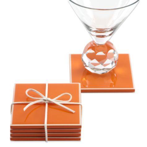 Gelato Coasters - Orange - Set of 4 from Z Gallerie