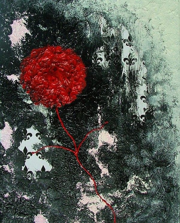 Wallflower - Acrylic and mixed media on canvas
