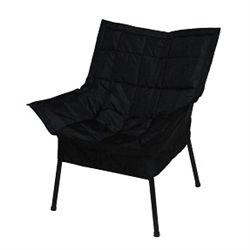 Dorm Room Padded Comfort Chair   Black