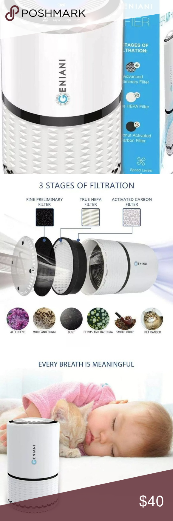 Air Purifier with True HEPA BRAND NEW BRAND NEW Air
