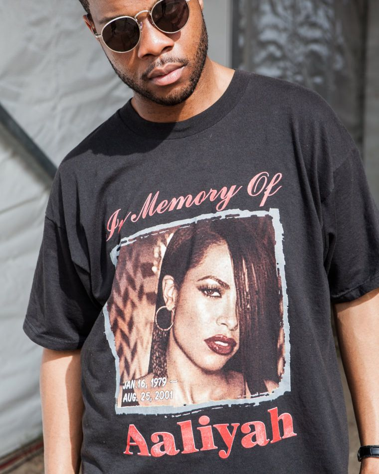 f32197fa83cd The 11 Best T-Shirts Spotted At SXSW | Art + Design | Aaliyah t ...