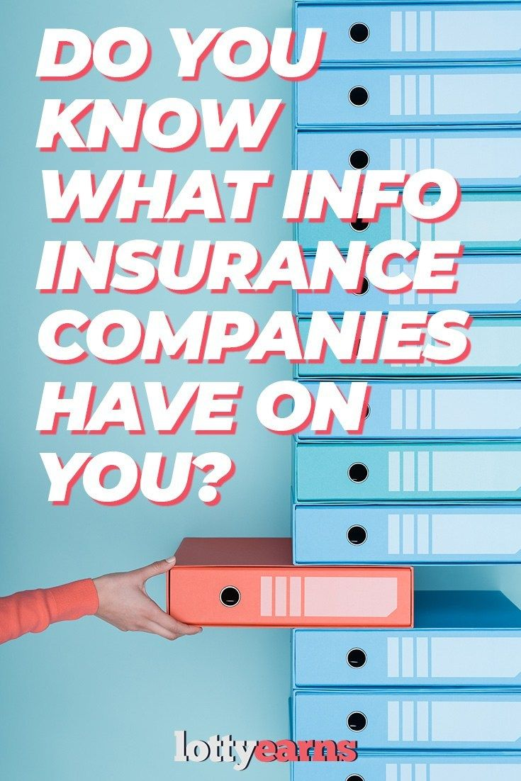 Do you know what info insurance companies have on you
