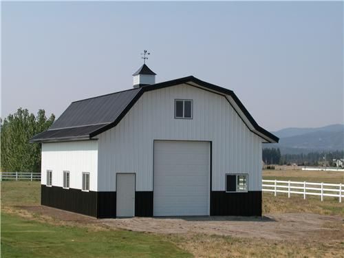 Gambrel roof style steel buildings steel storage for Gambrel barn plans with living quarters