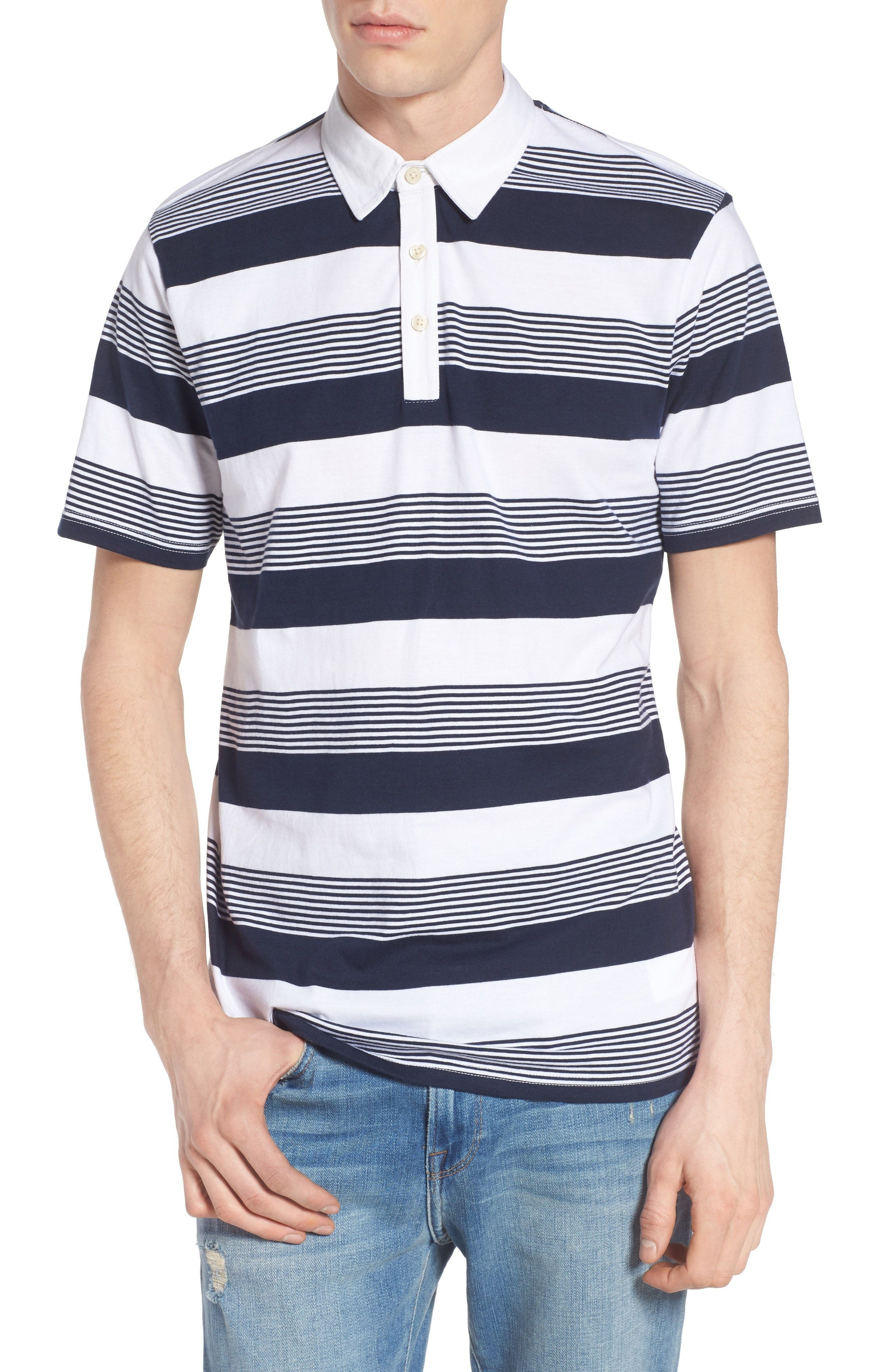 9bd455a72e New Vans Chima Stripe Jersey Polo