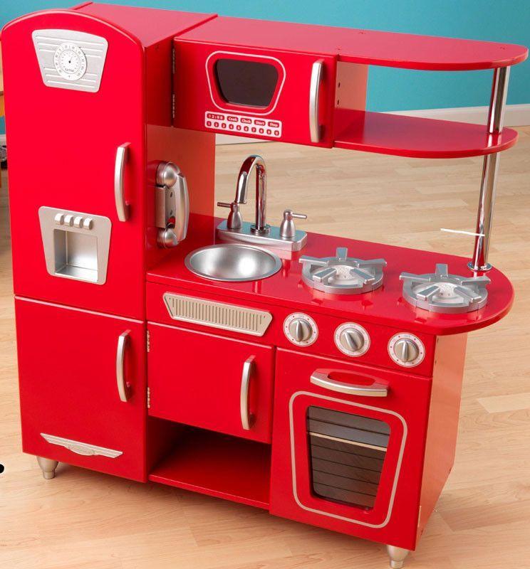 kidkraft red vintage kitchen 53173 vintage kitchen and products rh pinterest com KidKraft Play Kitchen KidKraft Retro Kitchen and Refrigerator