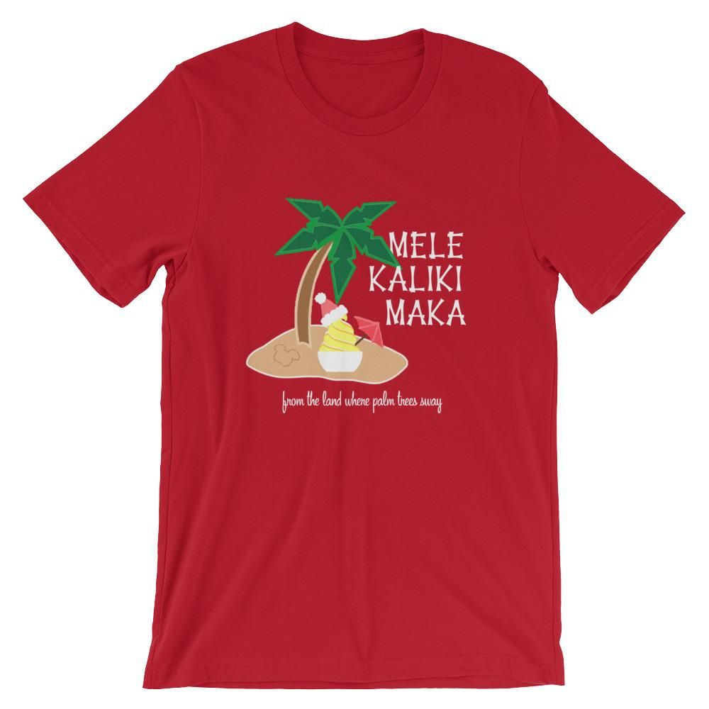 Dole Whip Melekalikimaka Hawaiian Christmas Shirt Short-Sleeve Unisex T-Shirt