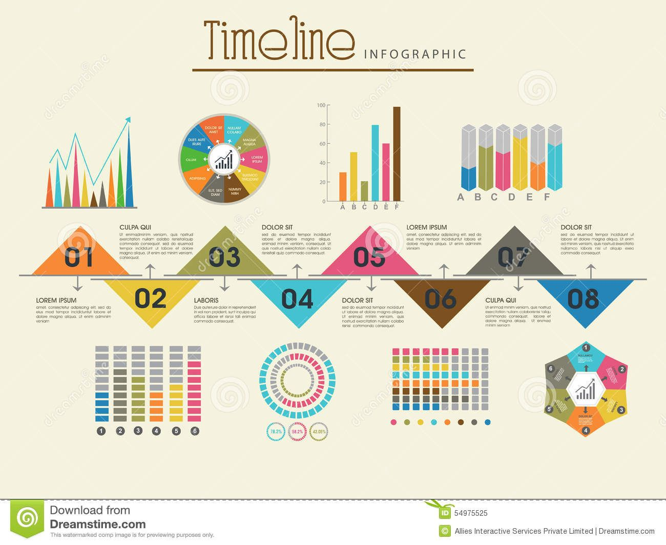 creative-timeline-infographic-template-layout-various-colorful ...