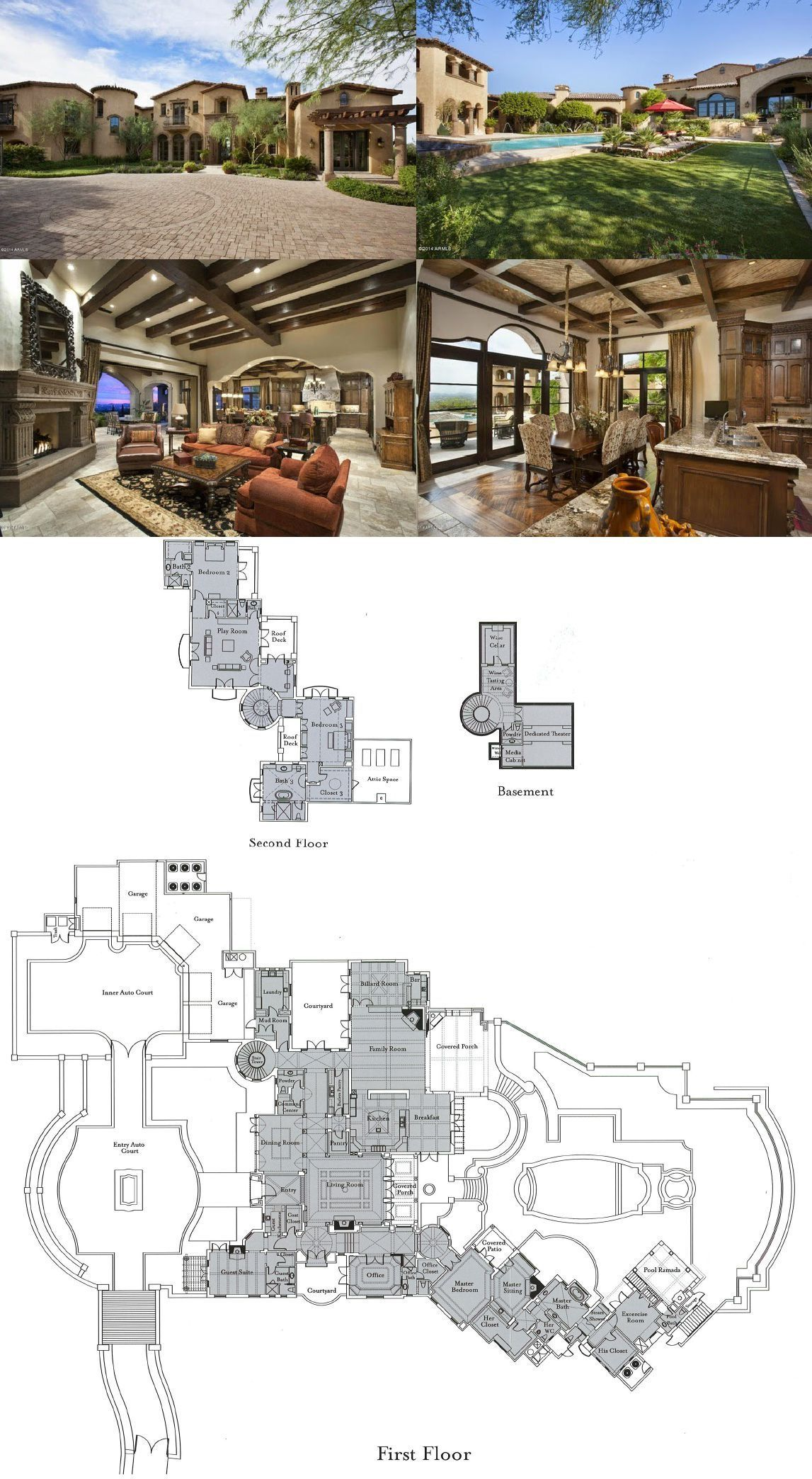 Spanish Colonial Estate For Sale In Scottsdale Az For 8 250 000 Model House Plan Mansion Floor Plan House Layout Plans