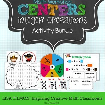 (CCSS: 7.NS.A.1, 7.NS.A.2) This number sense activity bundle focuses on integer operations.