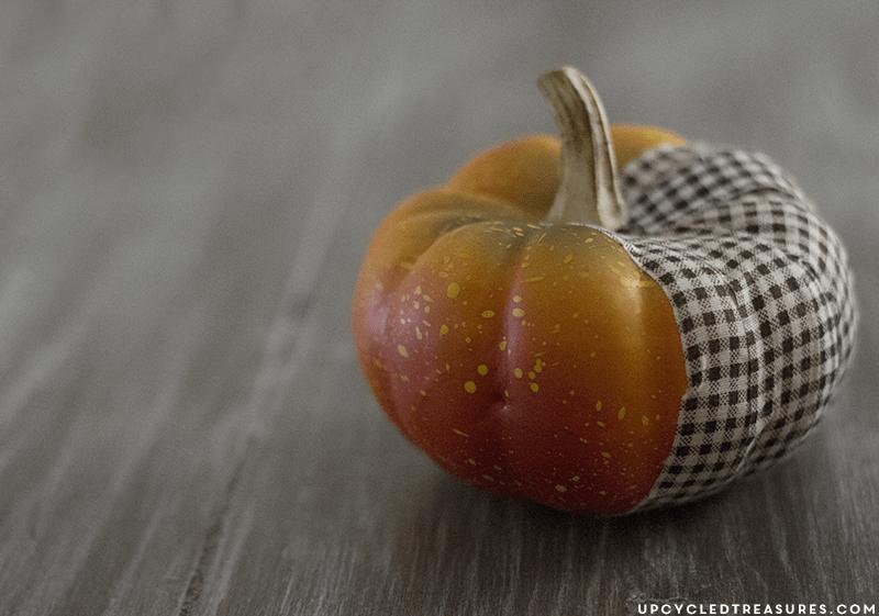 DIY Fabric Tape Pumpkins #fabrictape