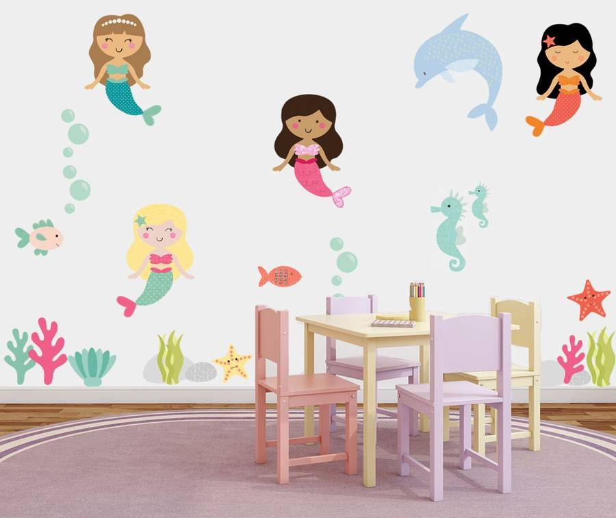 Are You Interested In Our Mermaid Wall Stickers? With Our Fabric Mermaid  Stickers You Need