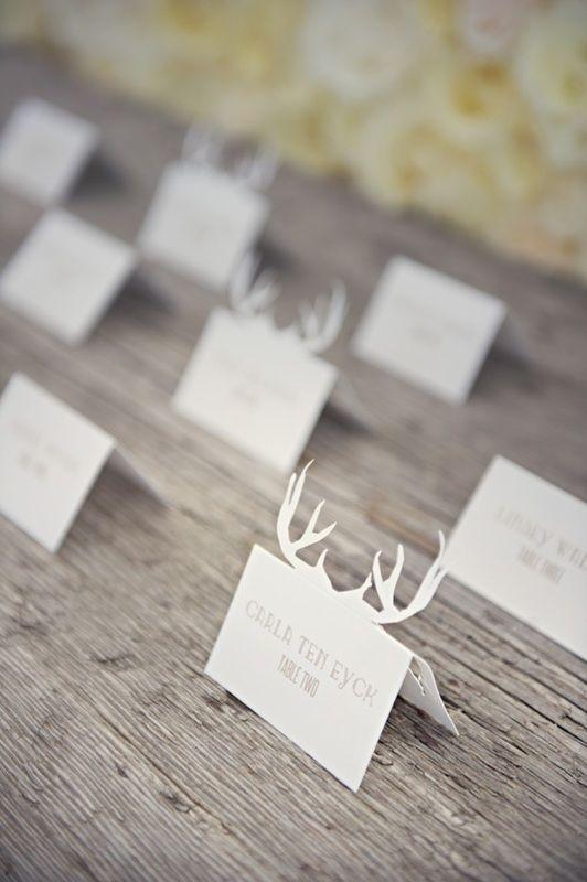 Deer head escort card display