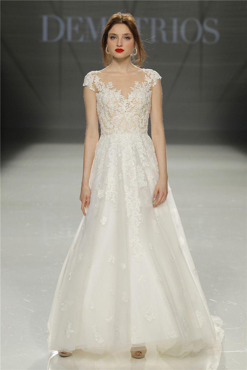 Demetrios bridal collection barcelona bridal fashion week at