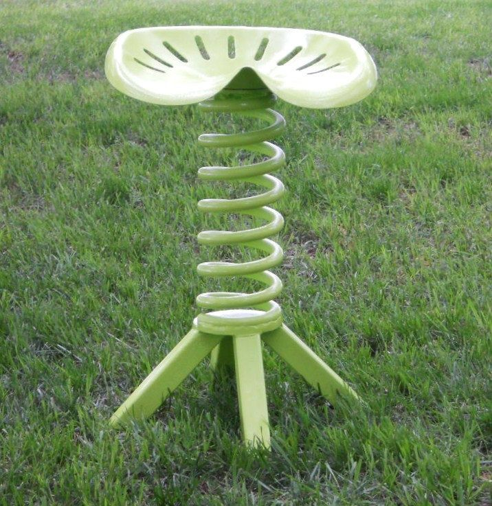 Charmant Tractor Seat Metal Stool Furniture Repurposed Vintage Tractor Seat Key Lime  Trac... * Visit The Image Link More Details.