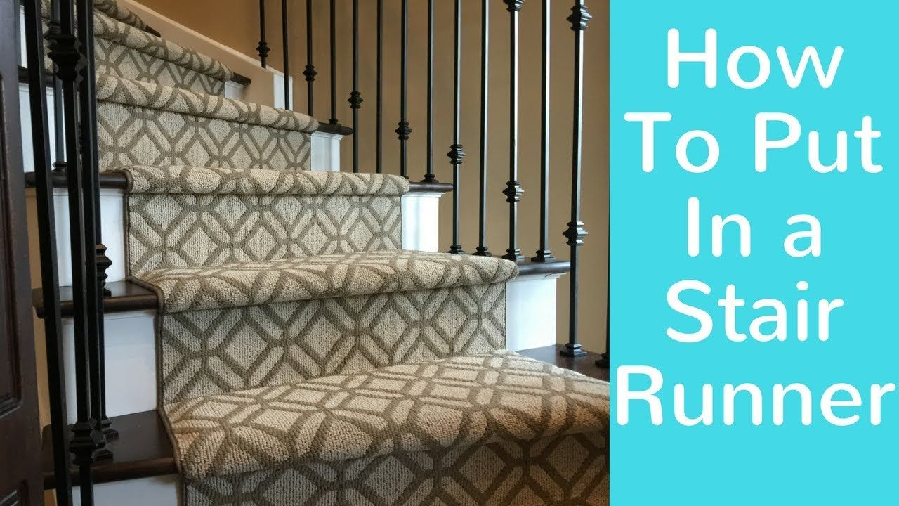How to Put In a Stair Runner,DirectCarpet.ca in 2020