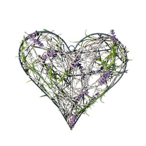 Parlane Large Lavender Hanging Heart Decoration 25cm RRP £15.50