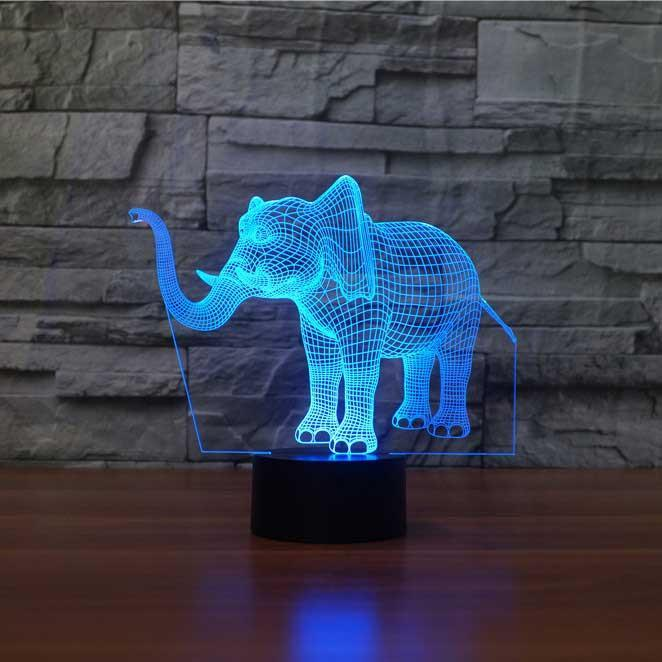 Elephant 3d Optical Led Illusion Lamp Lampeez 3d Illusion Lamp 3d Illusions Night Light Lamp