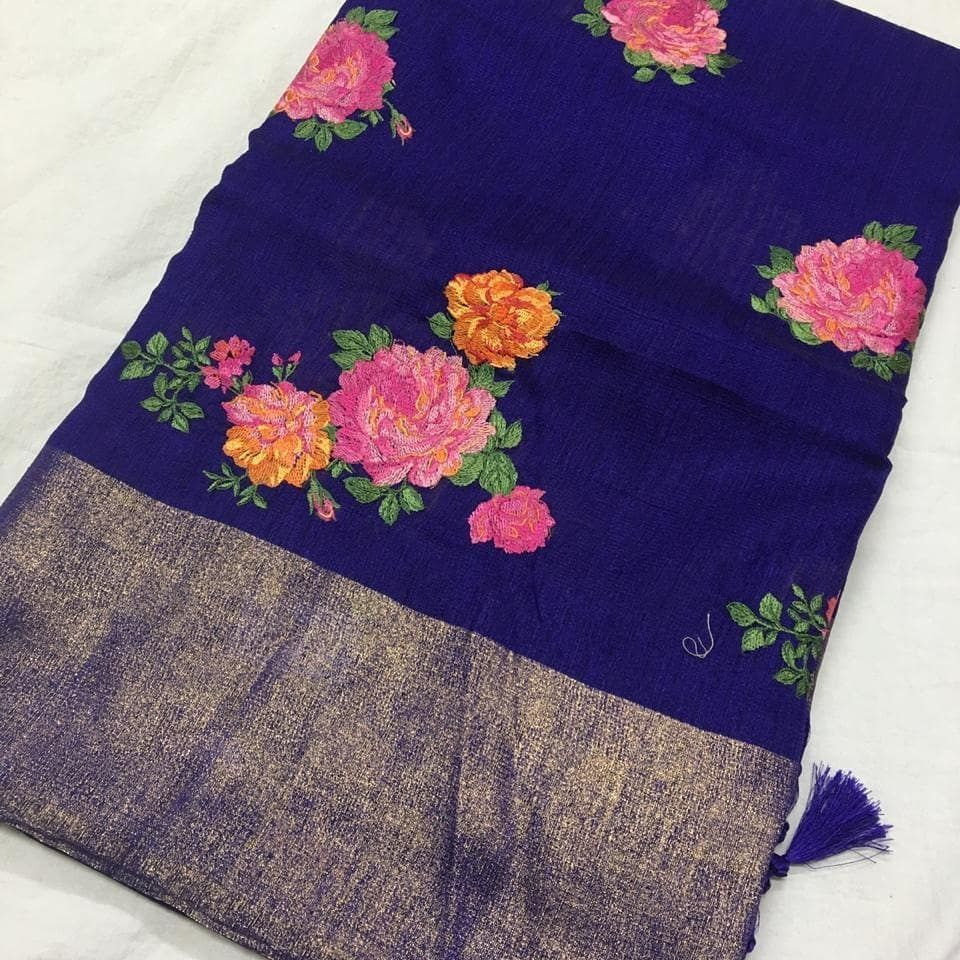 Pure jute work sarees Price5600 Order what's app