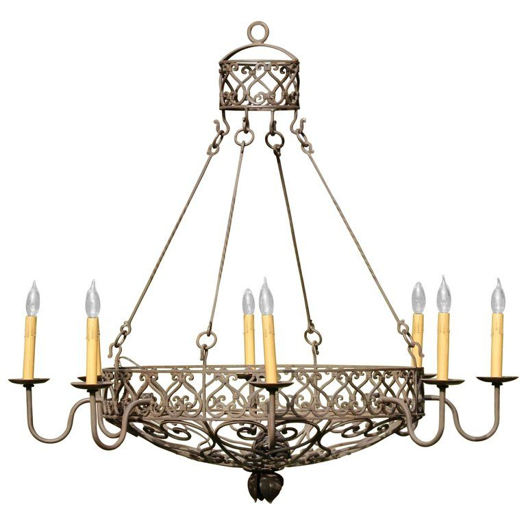 Wrought Iron Basket Chandelier Wrought Iron Chandeliers Wrought