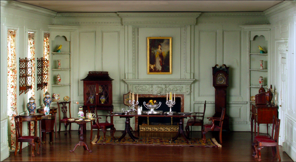 Superbe English Dining Room, Late 18th Century (Thorne Rooms At The Knoxville  Museum Of Art