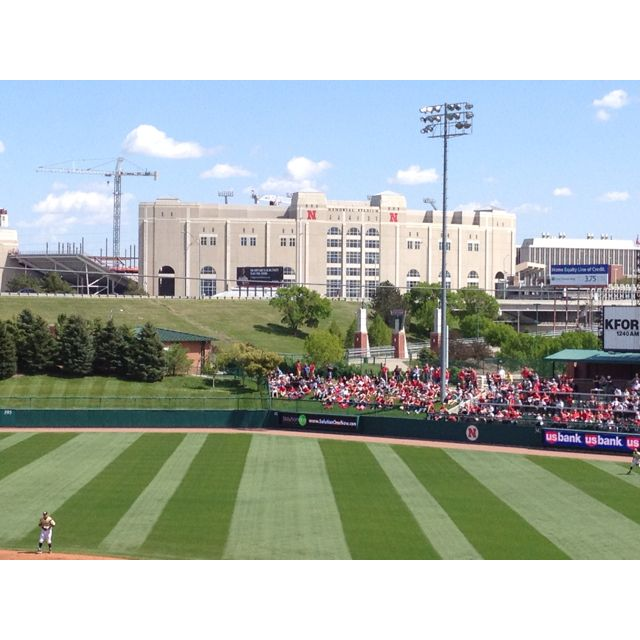 Lincoln Nebraska Parks: Memorial Stadium From The Outfield Of Haymarket Park In