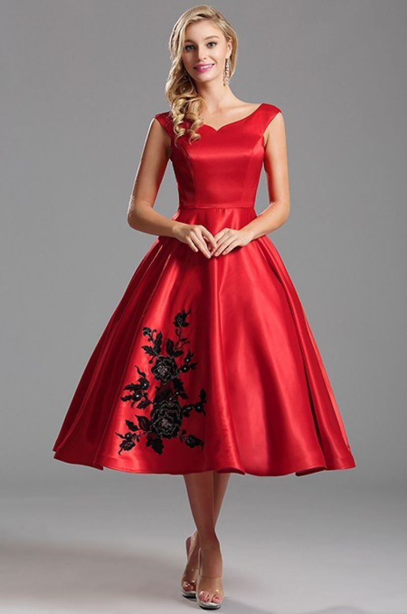 Christmas Tea Length Dress