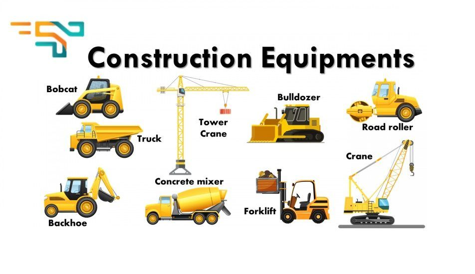 These are the list of equipment names used in construction ... |Heavy Equipment Binder Tab Names
