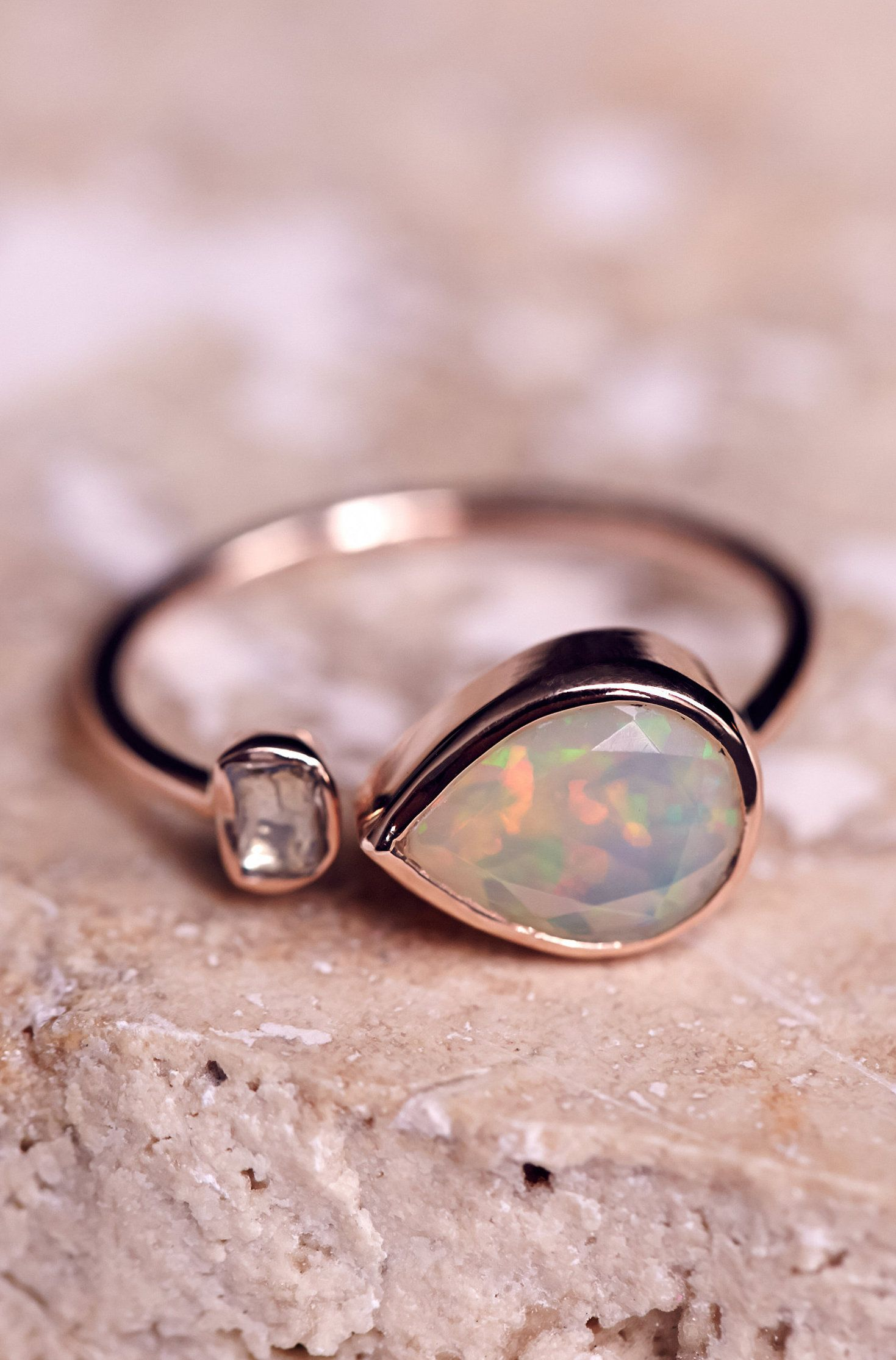 Opal diamond ring | Shiny | Pinterest | Diamond, Ring and Jewel