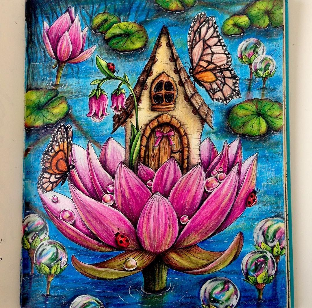 House on the Water Lilies coloring tutorial is up on my Channel ...
