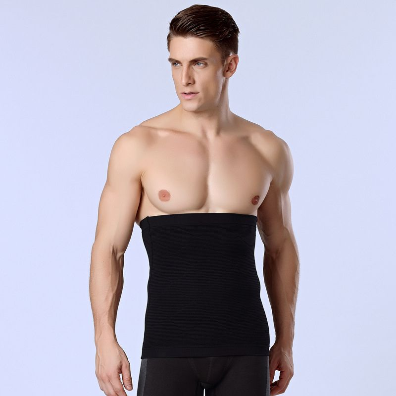 dda49cb1a88 Men Tight Vest Slimming Belt Body Shaper Gym Corset Posture Waist Trainer  Training Sport Safety Hot