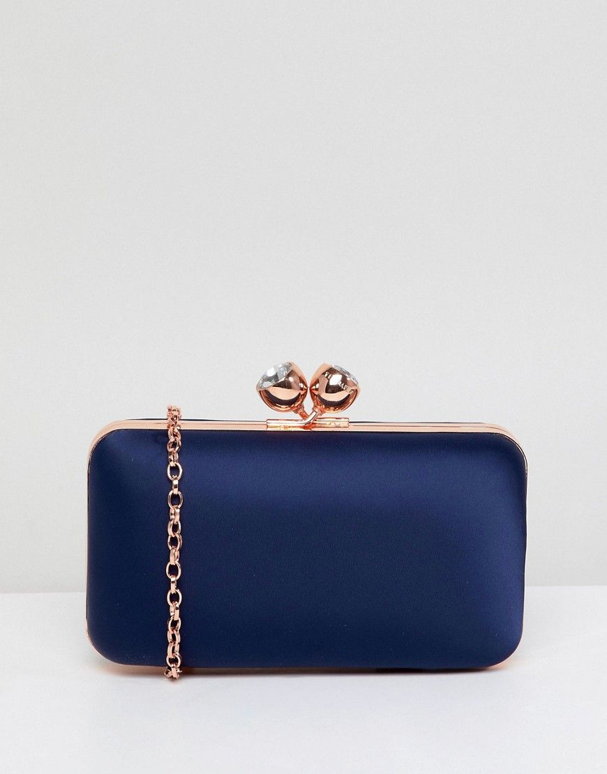 9ad1c09215c00b TED BAKER CRYSTAL BOBBLE CLUTCH BAG - NAVY.  tedbaker  bags  shoulder bags   clutch  crystal  hand bags