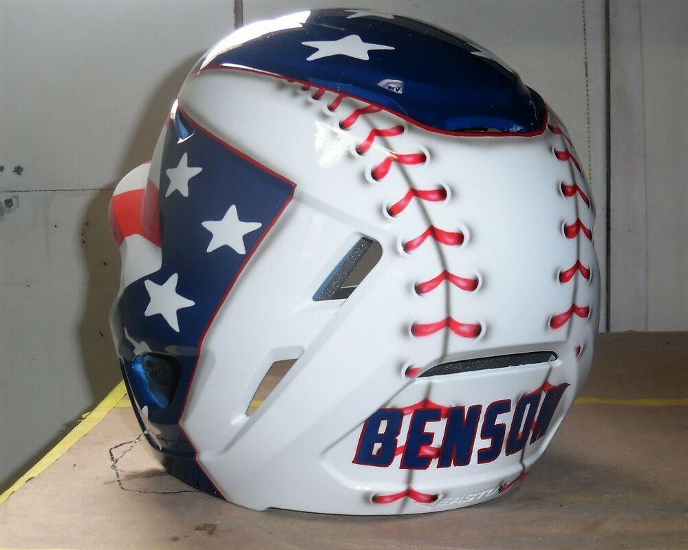 custom football helmet painting
