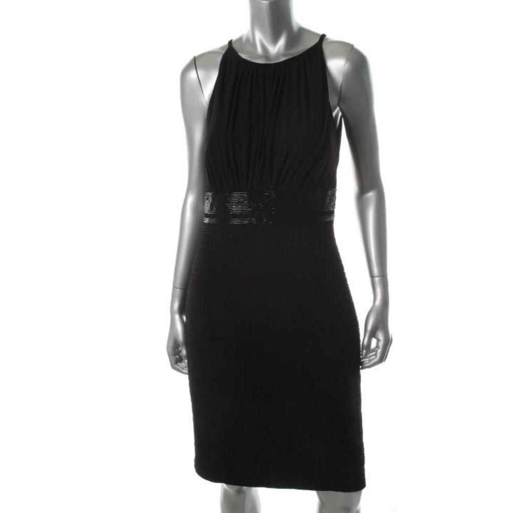 Js boutique womens black padded bust beaded waist cocktail