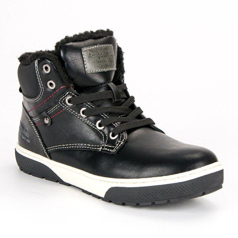 Buty Sportowe Dzieciece Dla Dzieci Arrigobello Arrigo Bello Czarne Mlodziezowe Trampki Nad Kostke Hiking Boots Boots Shoes