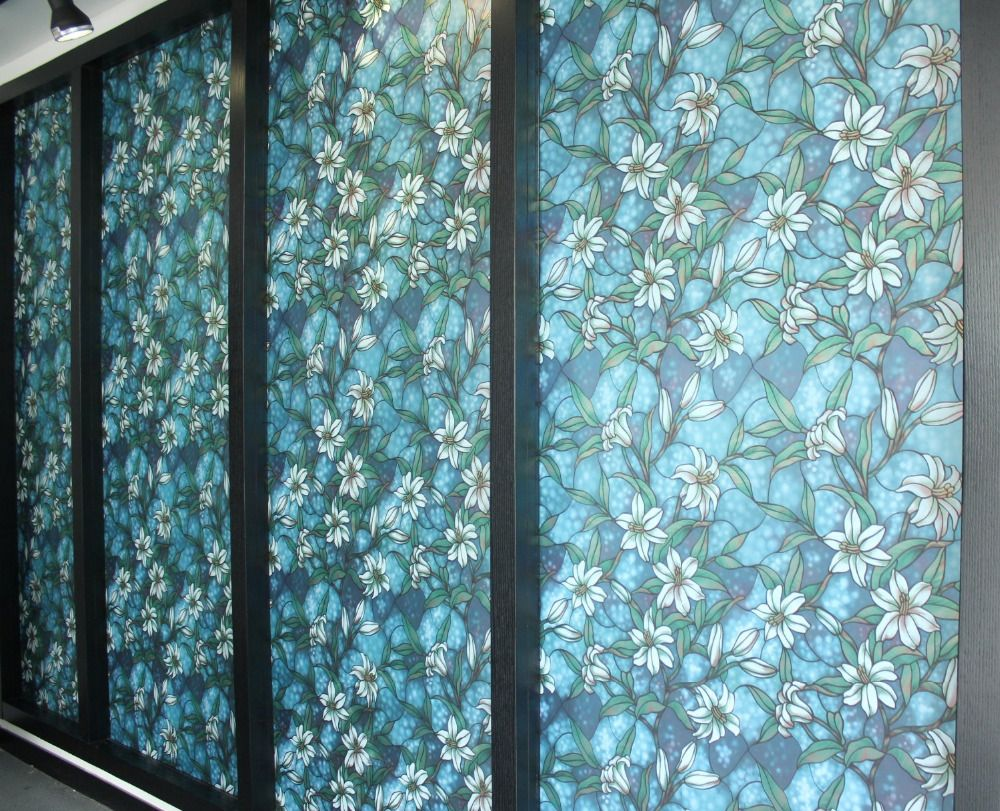 Custom Decorative Window Film static cling privacy window film  | window film | pinterest