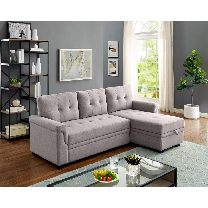 Whitby 86 Reversible Sofa Chaise Sectional Sleeper Sofa Sectional Sofa Storage Chaise