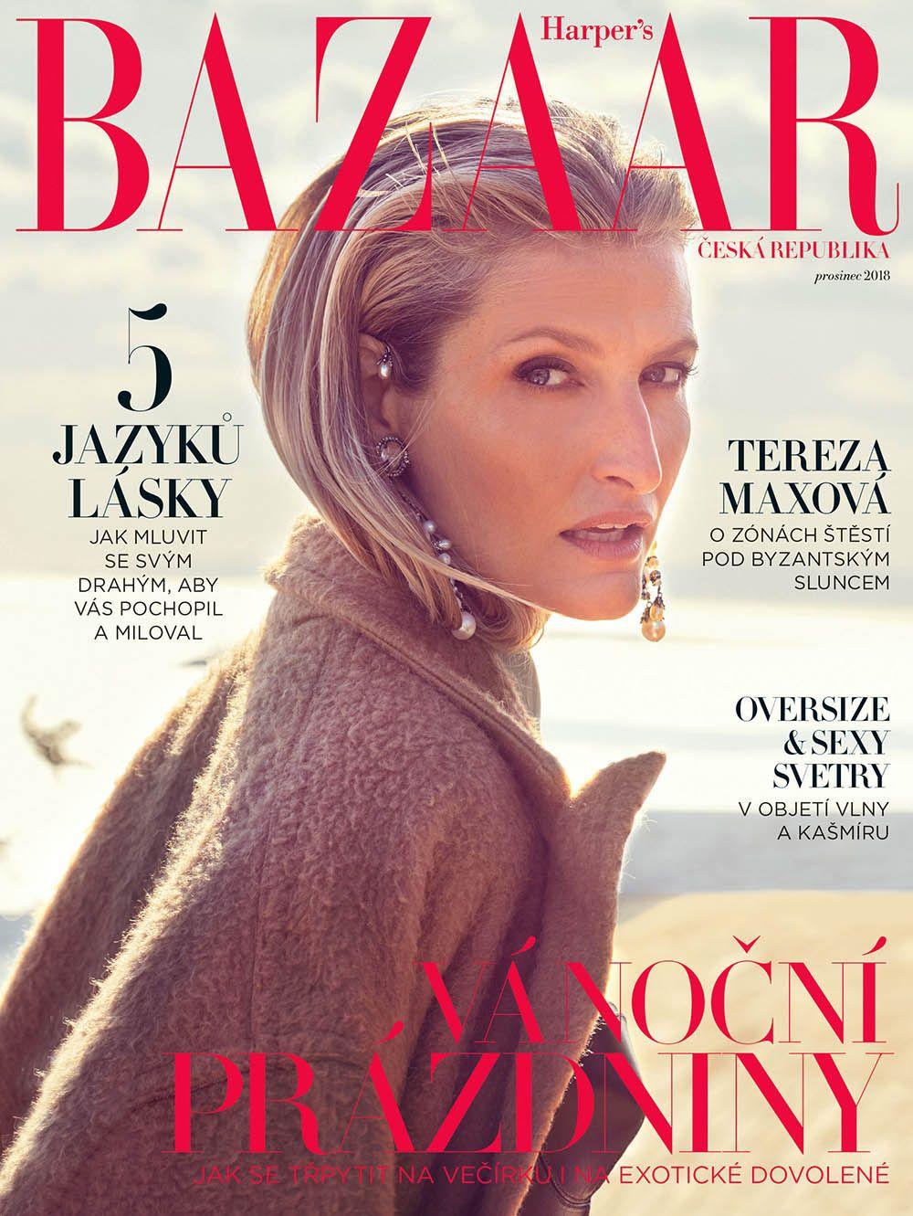 Tereza Maxova Covers Harper S Bazaar Czech December 2018 By Andreas Ortner Tapas Revistas