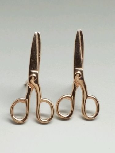 Mia Fiore Rose Gold Plated Sterling Silver 925 Stud Scissors
