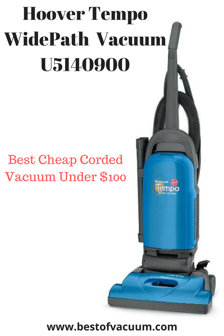 Hoover Vacuum Cleaner Tempo Widepath Bagged Corded Upright Vacuum U5140900 Best Cheap Corded Vacuums Under 100 Vacuums Upright Vacuums Vacuum Cleaner Repair