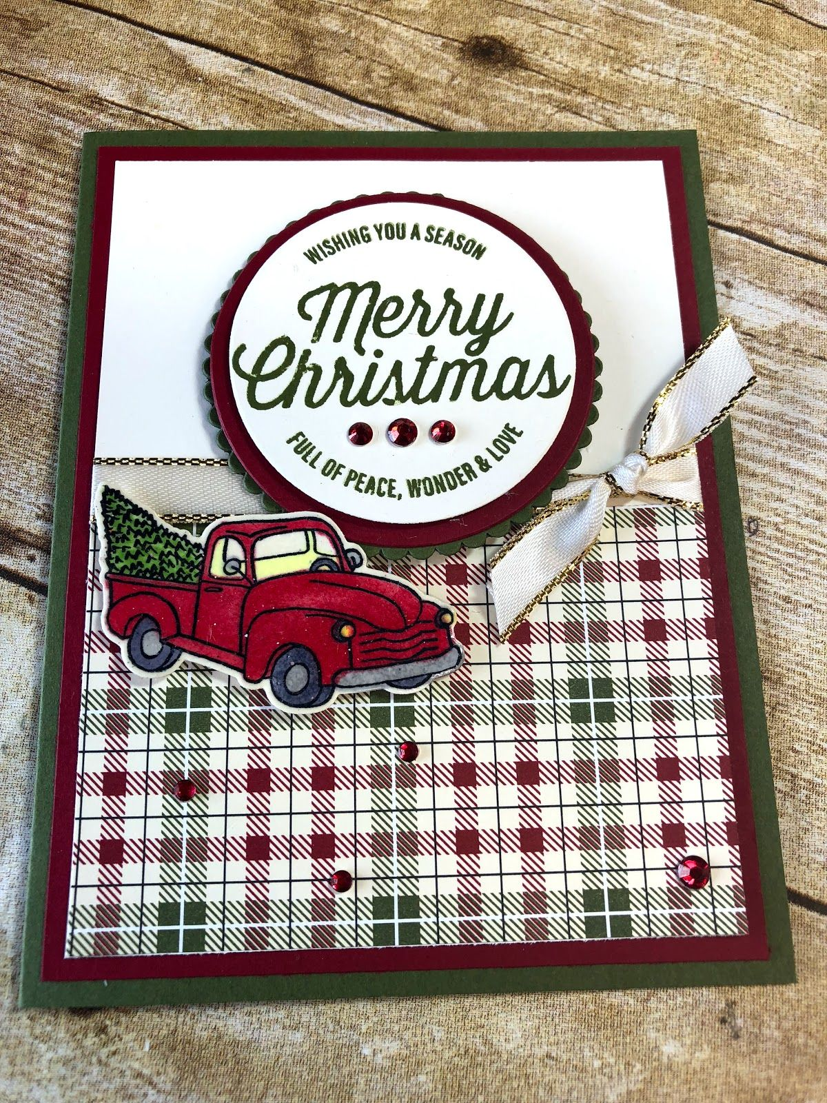 Tina Loves to Stamp Homemade christmas cards, Stampin up