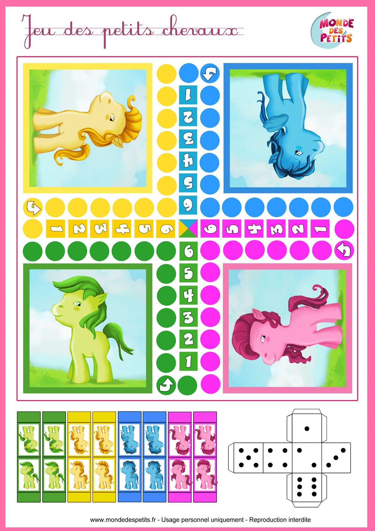 Le jeu des petits chevaux board game pinterest jeu - Devine tete a imprimer ...