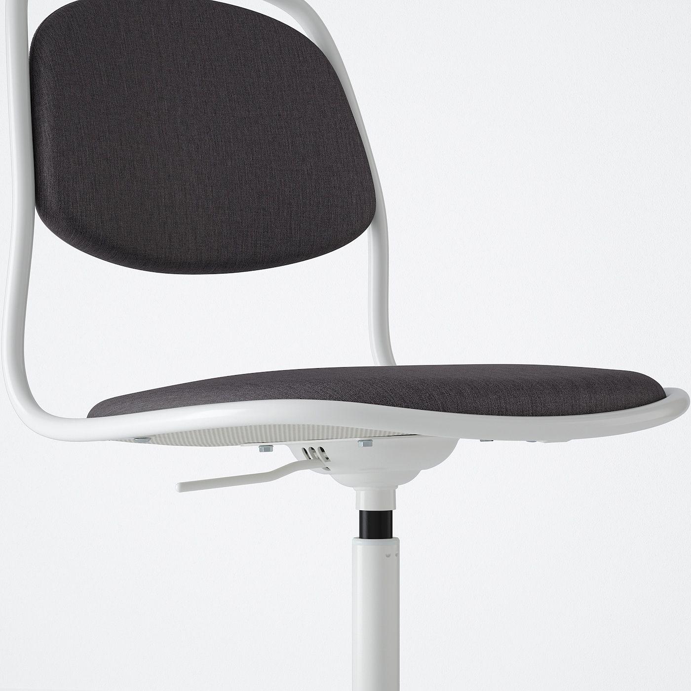 IKEA ORFJALL White, Vissle Dark Gray Swivel chair Swivel