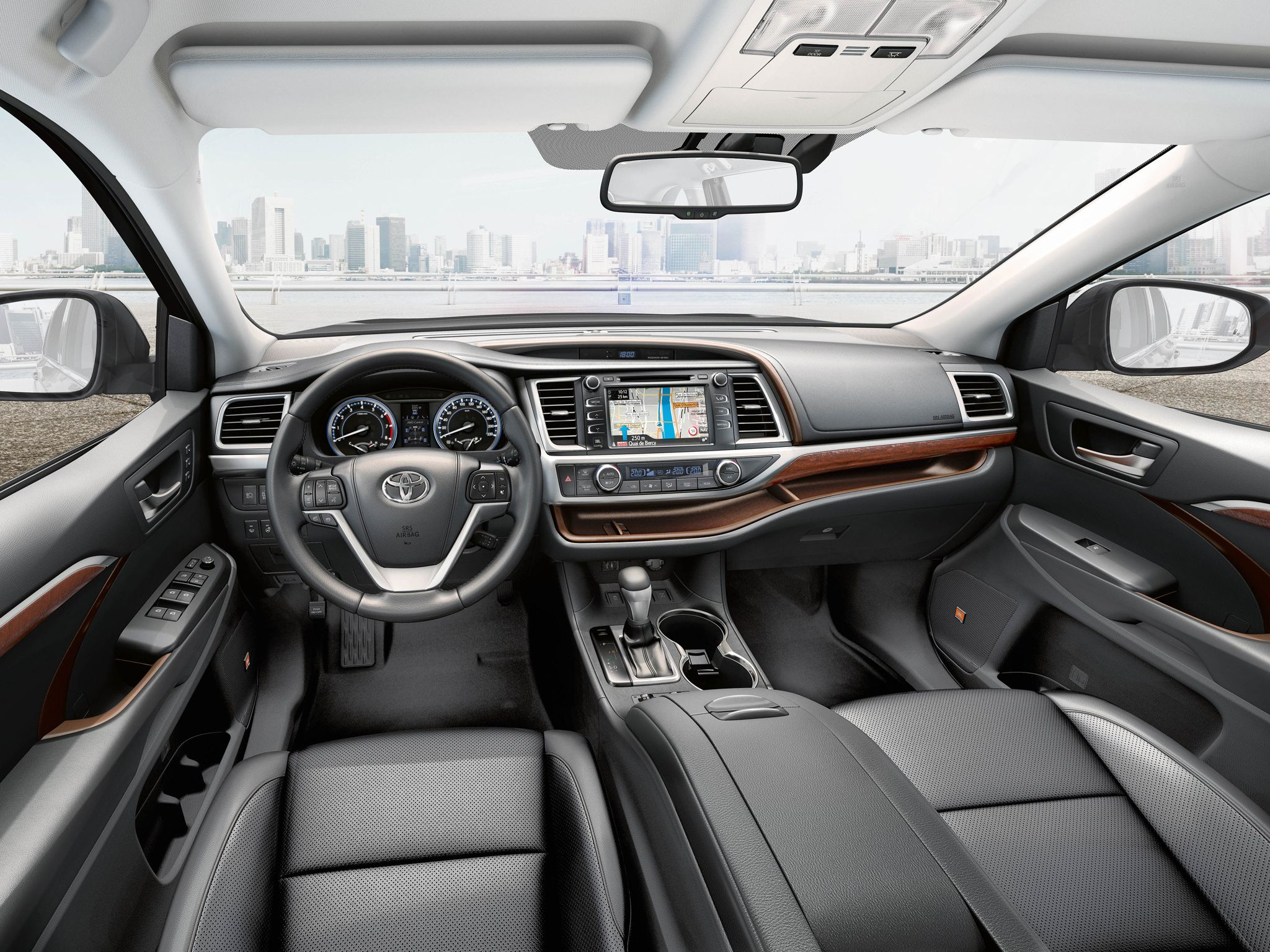 highlander toyota wallpaper xle interior