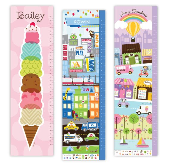 Ice cream themed personalized growth charts from petite lemon starting at also rh pinterest