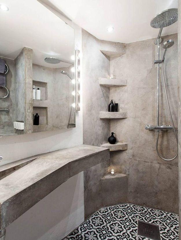 Les salles de bains vues sur Pinterest Decoration salle de bain ciment