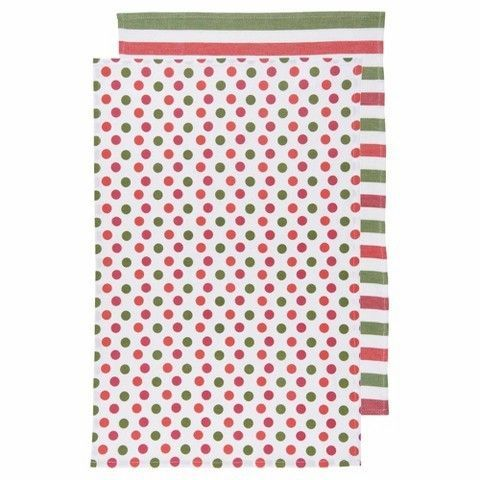 Now Designs Kitchen Towel Red Green White
