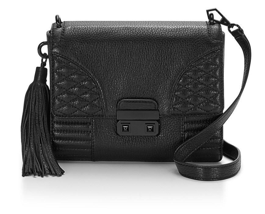 5a742598283b Rebecca Minkoff Aliz Mini Black Leather Handbag Crossbody Bag MSRP  295