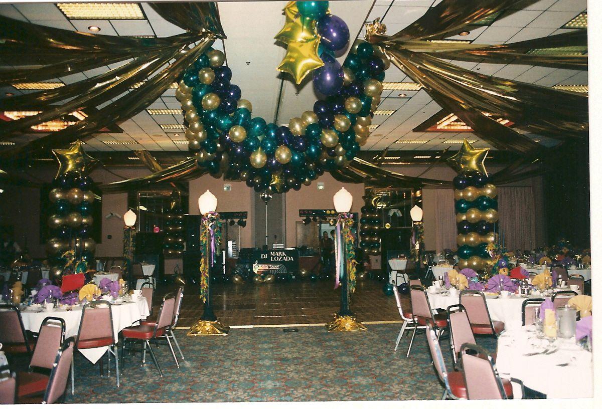 Mardi Gras Ball Decorations Balloon Decor Of Central California  Party  Mardi Gras
