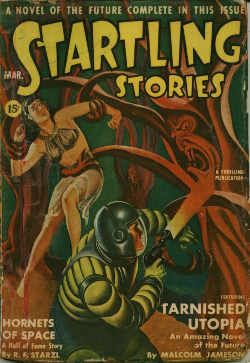 Startling Stories March 1942 Vol 7 No 2 Contains A Story By Henry Kuttner Cover By Earle Bergey Sci Fi Stories Pulp Fiction